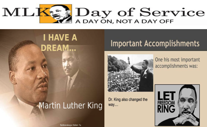 MLK Day of Service graphic