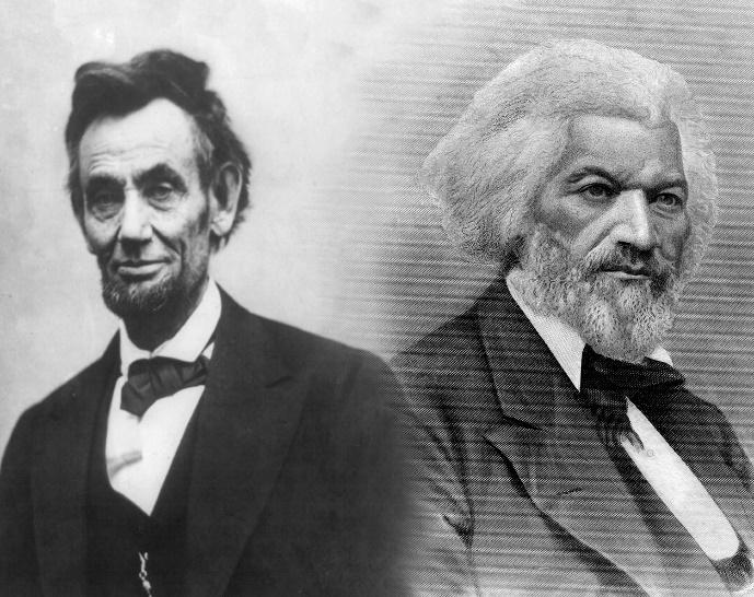 Image of Lincoln and Douglas.