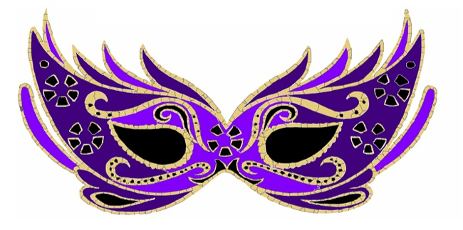 Mardi Gras mask graphic