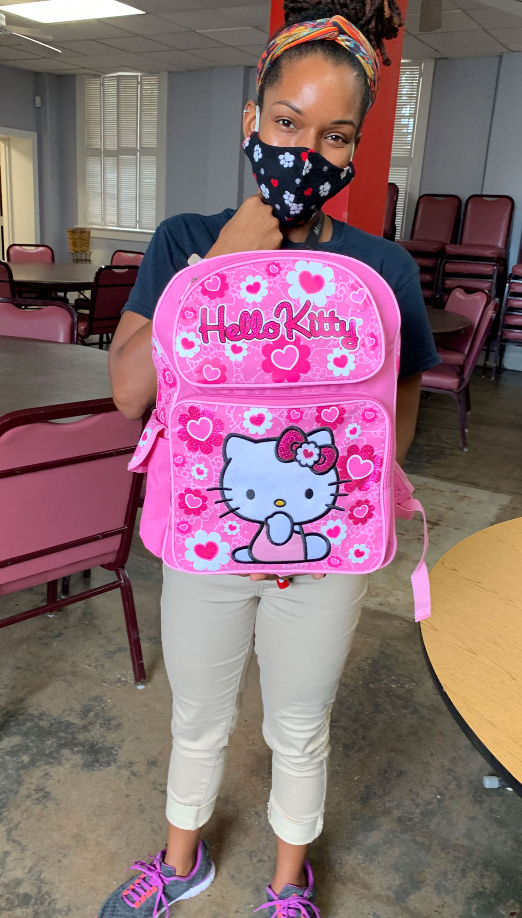 Student with backpack.